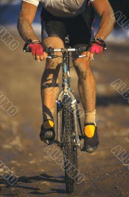 Close up of Mountain Biking