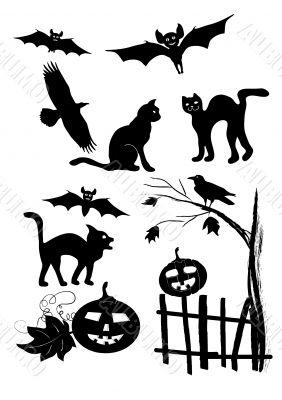 halloween vector mix