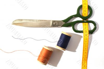 Scissors and a measuring tape
