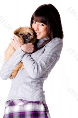 Hugging with my puppy