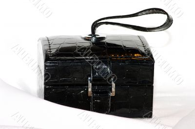 Retro box leather colour of black