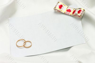 wedding invitation on the white background