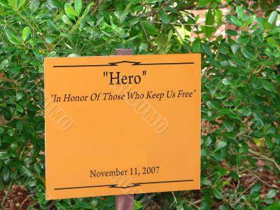 Hero Sign