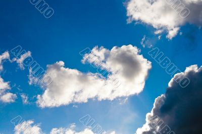 Blue Sky In White Clouds