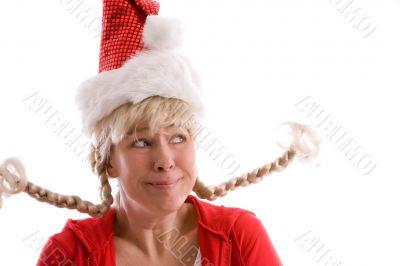 Funny christmas girl
