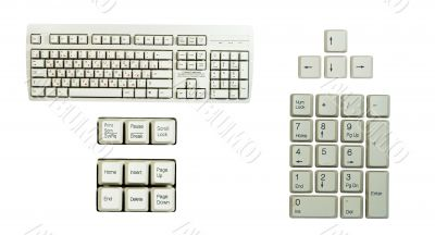 Set of keyboard`s part`s