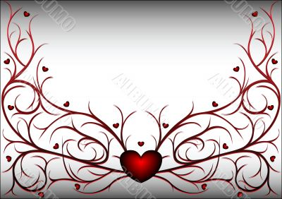 Red pattern with hearts 2