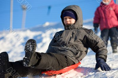 Fun high speed sledding