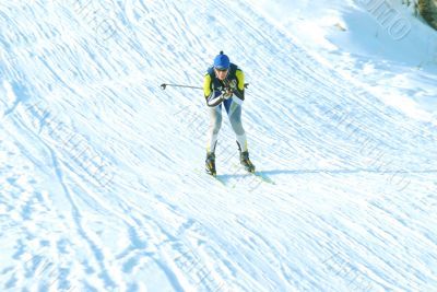At contest `New Year`s ski-track`