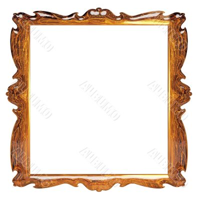 empty picture frame with amber decorative pattern