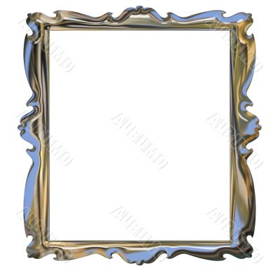 Picture metallic chrome frame with a decorative pattern