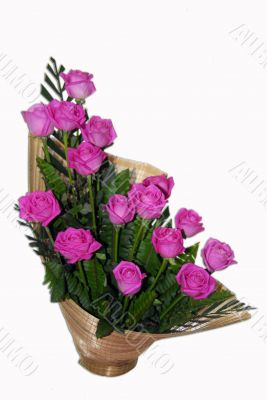 Pink Rose Flower Bouquet Ikebana