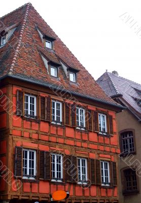 Typical half timbered house at Obernai - Alsace