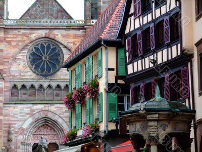 Typical architecture in Alsace region - Obernai