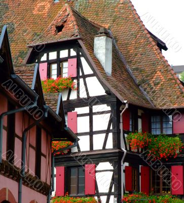 Traditional half-timbered architecture in Alsace
