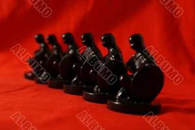 Chess concept of teamwork