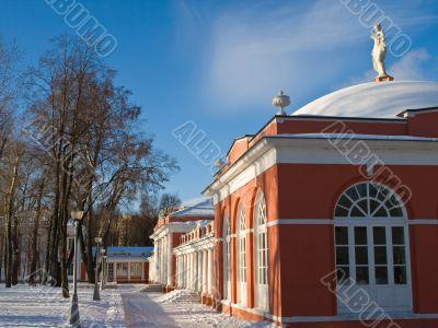 Russian manor winter view