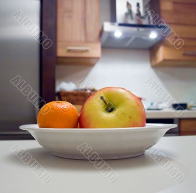 Rich fruits on the plate