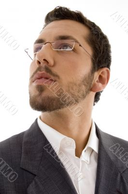 young executive wearing spectacles