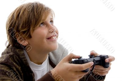 teen playing video games