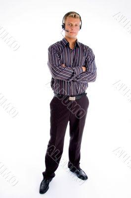 full pose of customer executive