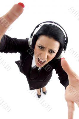 ceo wearing headphone