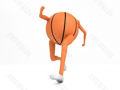 basket ball with hands and legs
