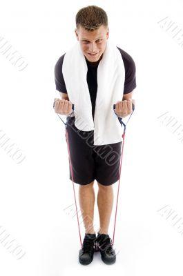 man doing exercise for good health