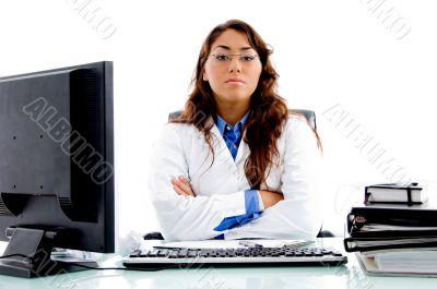 medical professional posing