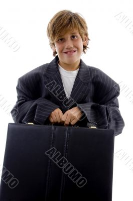 young businessman holding briefcase