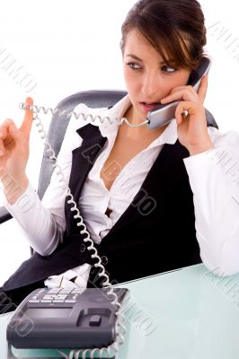 service provider communicating on phone
