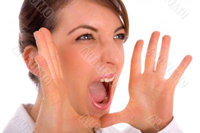 portrait of shouting professional