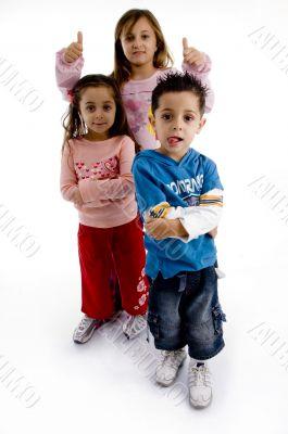 standing cute little children