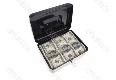 Money in cash box