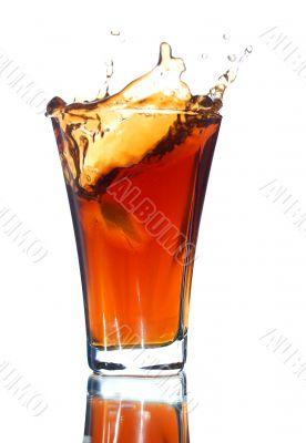 soft drink with a splash
