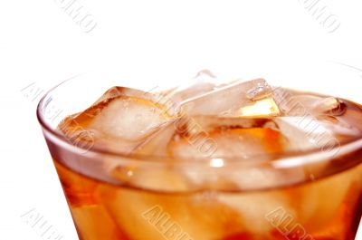 ice filled soft drink