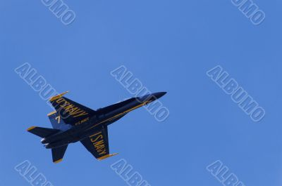 Blue Angel Soaring into the Sky