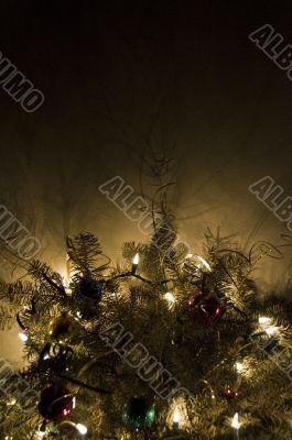 Christmas Tree Glowing in the Dark