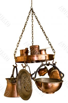Bronze Kitchen Set Isolated