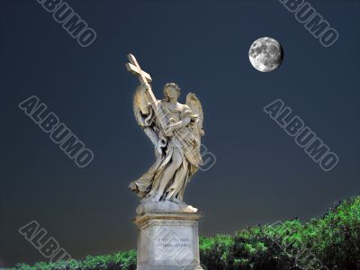 The angel and the moon