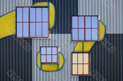 Window and facade, artistically arranged