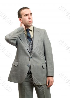 Businessman With Stiff Neck