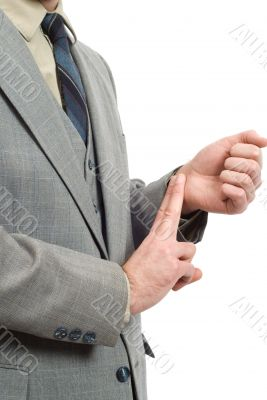 Businessman Checking His Pulse