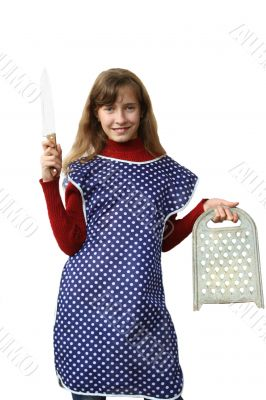 knife and grater