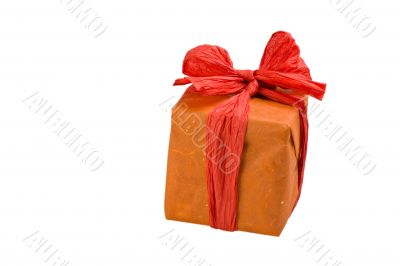 gift wrapped in orange