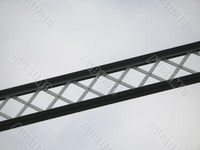 metal bridge structure in the sky