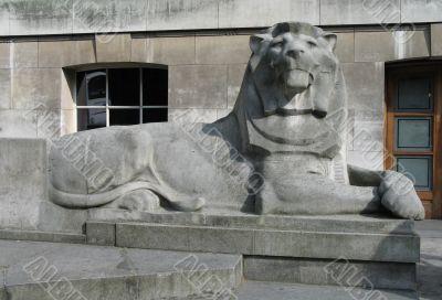 sculpted lion
