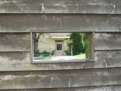 wooden wall without window