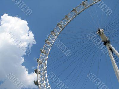 big wheel in the blue sky
