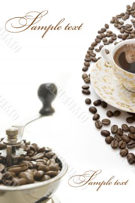 Coffee greatings card